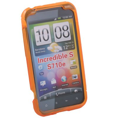 Orange S Curved GEL Case Cover for HTC Incredible S S710E G11