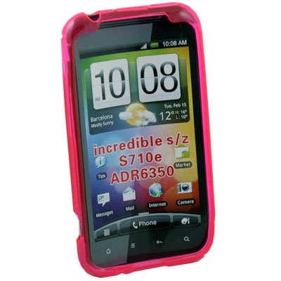 S Curved GEL Case Cover for HTC Incredible S S710E G11 (Pink)