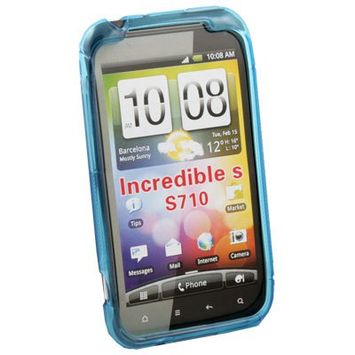 TPU Silicone Case Cover for HTC INCREDIBLE S S710 (Azure)
