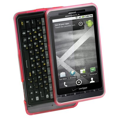 For Motorola Milestone 3 III XT883 Snap-on Cover TPU Rubber Skin Case Pink