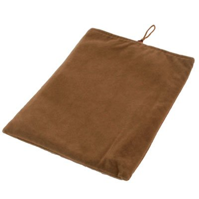 Brown Suede Fabric Sleeve Case Skin Pouch Bag For iPad 2 & iPad