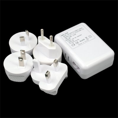 4 Port USB AC Charger Adapter for ALL iPhone iPad