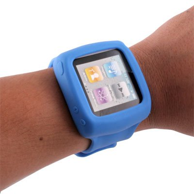 Slap Watch Wristband Case for Apple iPod Nano 6 Blue