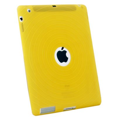 Yellow Silicone Case Cover for Apple iPad 2 2G 2nd Gen