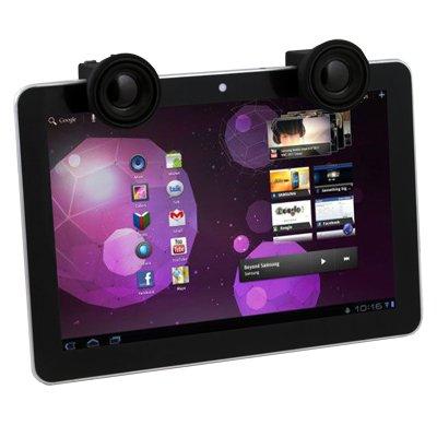Black Portable Audio Mobile Speaker for Samsung Galaxy Tab P7510 P7500 P7300 iPad Tablet