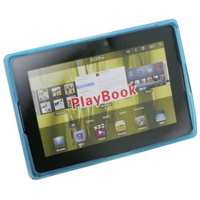 Blue Clear Ripple Rubber Case for Blackberry Playbook
