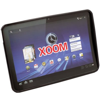 Black TPU Skin Cover Case for Motorola XOOM Tablet