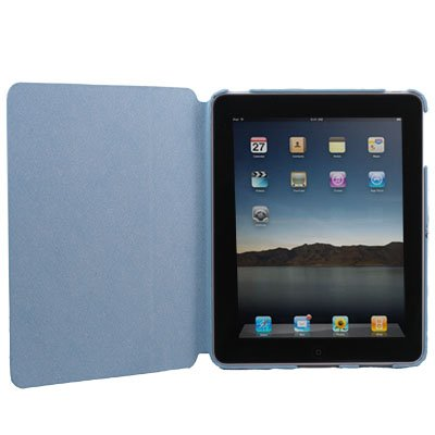 Blue Leather Flip Sleeve Case Cover Leg Stand for iPad