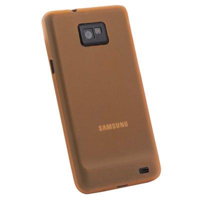 Orange Ultra Thin 0.35mm 3.5g Slim Case Cover for Samsung Galaxy S2 i9100