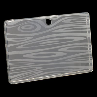 White TPU Clear Ripple Case for Blackberry Playbook
