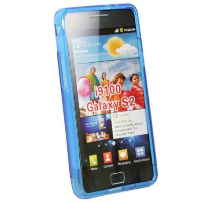 For Samsung Galaxy S II i9100 TPU Gel Skin Case Cover Blue