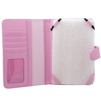 Pink PU Leather Cover Case for Amazon Kindle 3 Wifi