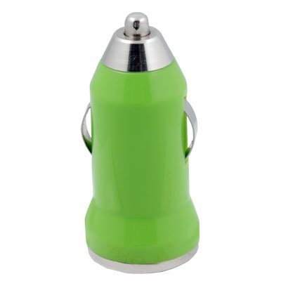 Mini Car Charger USB Adapter for iTouch iPhone 4 (Green)