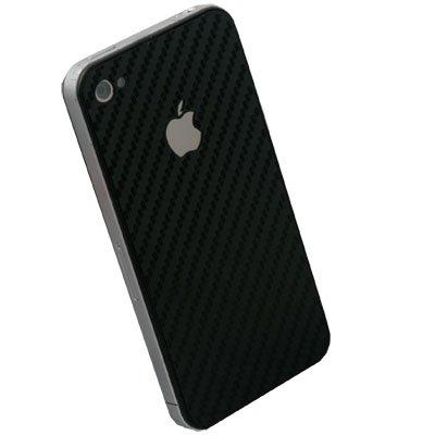 Black Matts Carbon Fiber Sticker for Apple iPhone 4G