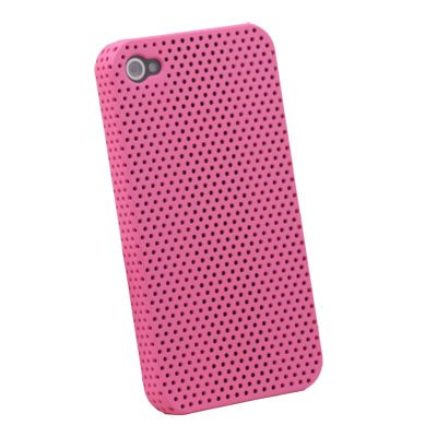 Net Hard Case Accessory for iPhone 4 4G (Peach)
