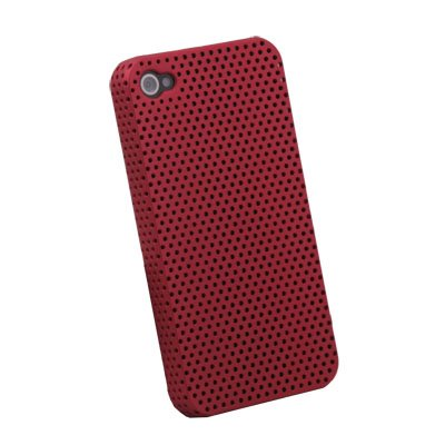 Red Net Hard Case Cover for iPhone 4 4G
