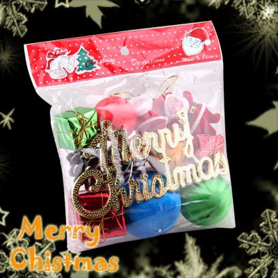 Lot of 12 Mini Cute Christmas Tree Decoration Ornament Set