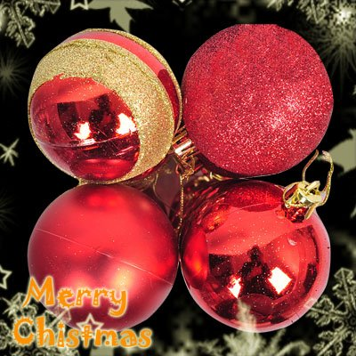 4 Cute Christmas Tree Hanging Item Mixed Ball Charms Decoration Ornaments Red