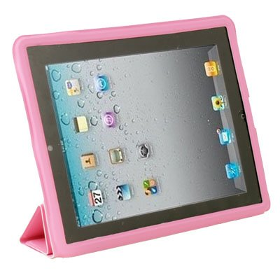 Pink Leather Case Cover Pouch Stand for Apple iPad 2 #6480#