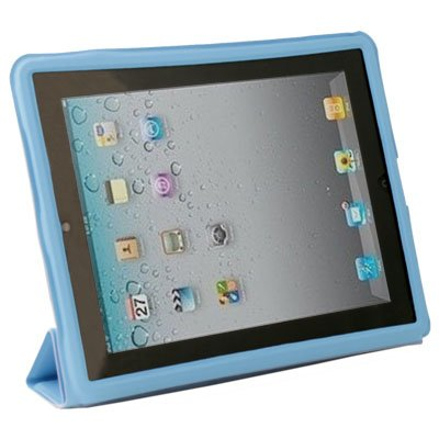 Blue Leather Case Cover Pouch Stand for Apple iPad 2