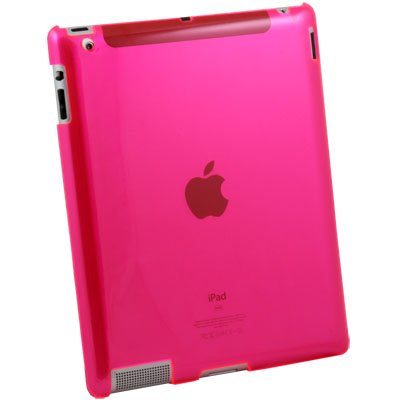 Clear Pink Crystal Hard Case Cover for Apple iPad 2 iPad2
