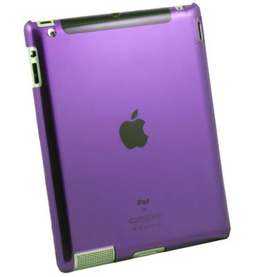 Clear Purple Hard Case Cover for Apple iPad 2