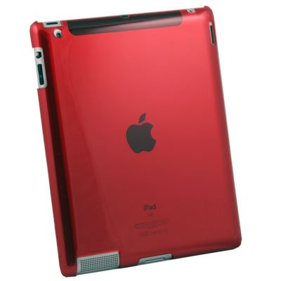 Crystal Hard Case Cover for Apple iPad 2 Red