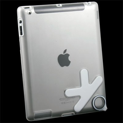 White TPU Rubber Skin Case Cover for Apple iPad 2