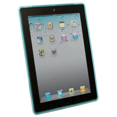 For Apple iPad 2 Dotwave Rubber Skin Case Cover Blue