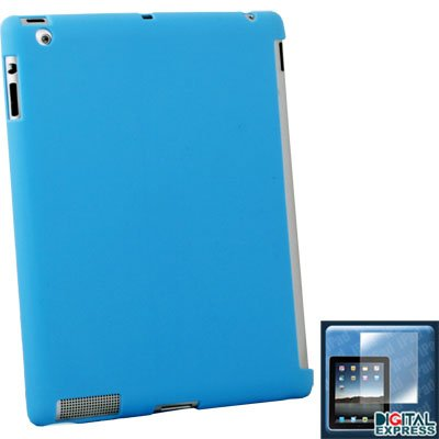 Blue Smart Cover Companion Case +Screen Protector for iPad 2