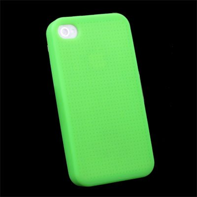 Green Cross Stitch Silicone Skin Case for Apple iPhone 4