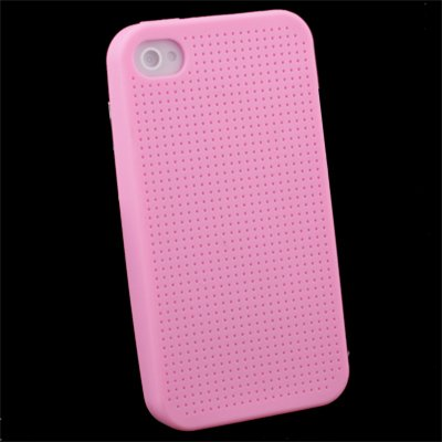 For iPhone 4 Cross Stitch Silicone Case Pink