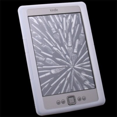 Hot Silicone Skin Cover Case for Amazon Kindle 4 4th eBook White