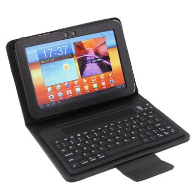 """Bluetooth Leather Keyboard Case Cover for Samsung Galaxy Tab 2 8.9"""" P7300/P7310"""