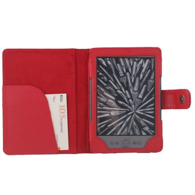Red Leather Pouch Case Cover for Amazon Kindle 4 4th Generation Edition