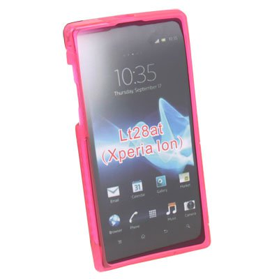 Pink S Line TPU Gel Case for Sony Ericsson Xperia Ion LT28at Aoba