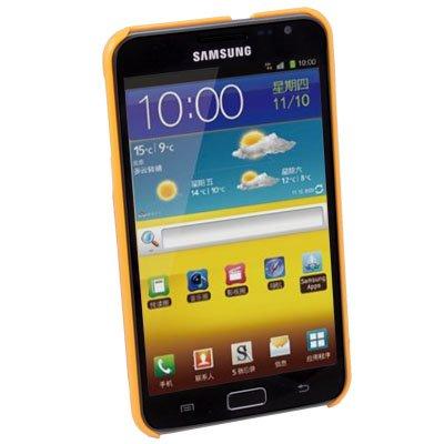 Orange Hard Plastic Skin Shell Cover Case for Samsung Galaxy Note i9220