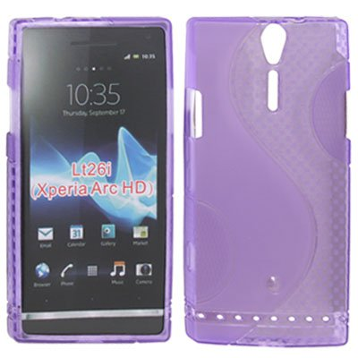 PURPLE SOFT GEL S LINE TPU SILICONE CASE COVER FOR SONY ERICSSON XPERIA S LT26i