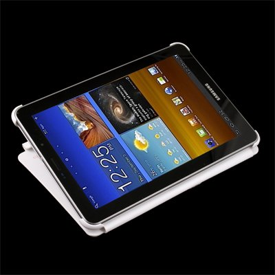 """White Book Smart Flip Case Cover Stand For Samsung Galaxy Tab 7.7"""" P6800 P6810"""
