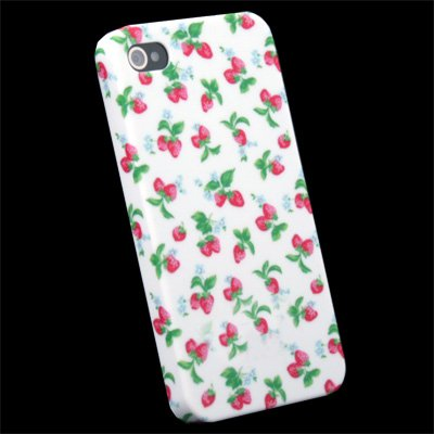 Strawberry Flower Slim Hard Case Cover for iPhone 4 4G
