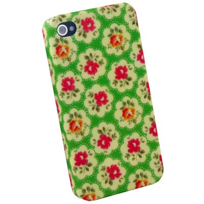 For iPhone 4 4G 4S Azure Flowers Slim Hard Case Cover