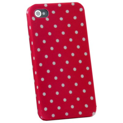 Dot Red Flower Slim Hard Case Cover For iPhone 4 4G