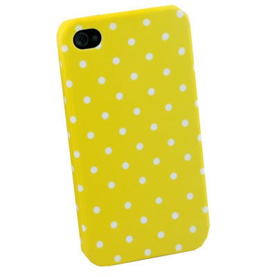 For iPhone 4 4G 4S Dot Yellow Flower Slim Hard Case Cover