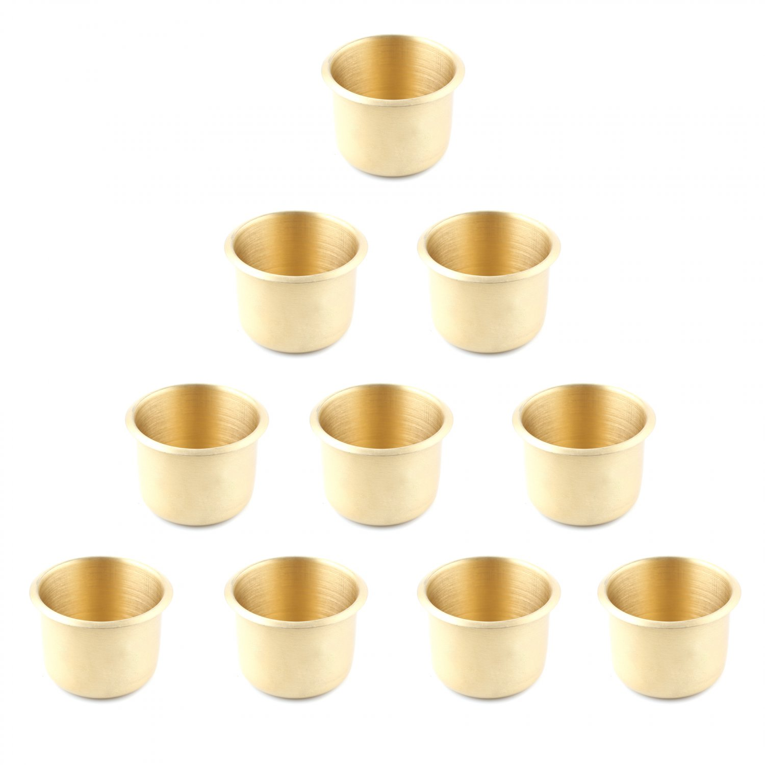 10 x Brass Poker Table Cup Holder Regular (Ship US Country Only)#14819x10#