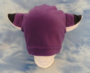 Purple Fox Hat Fleece Anime Cosplay Animal Furry Ears