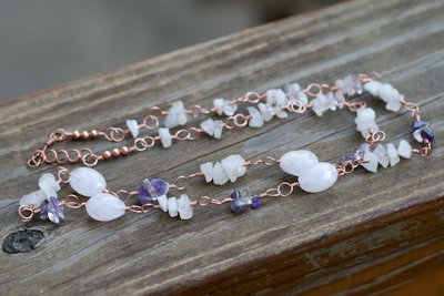 Metaphysical Amethyst and Crystal Quartz Necklace
