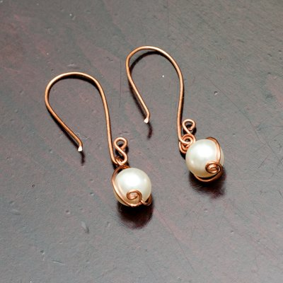 Dangling Swarovski Pearls