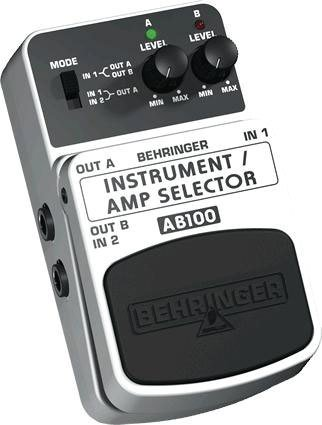 Behringer AB100 Guitar/Amp Selector A/B Footswitch
