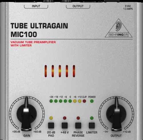 Behringer MIC100 Tube ULTRAGAIN Preamp