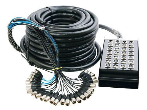 Hot Wires SNK12450 Stage Snake 24x4 channel 50'